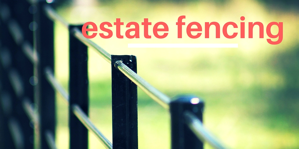 estate style steel fencing